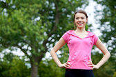 Sporty woman outdoors — Stock Photo