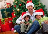 рождественский семейный портрет — Стоковое фото