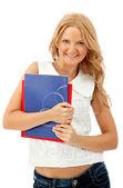 Female student smiling — Stock Photo