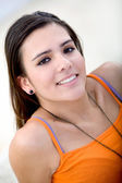 Casual femme souriant — Photo