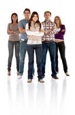 Fullbody casual group — Stock Photo
