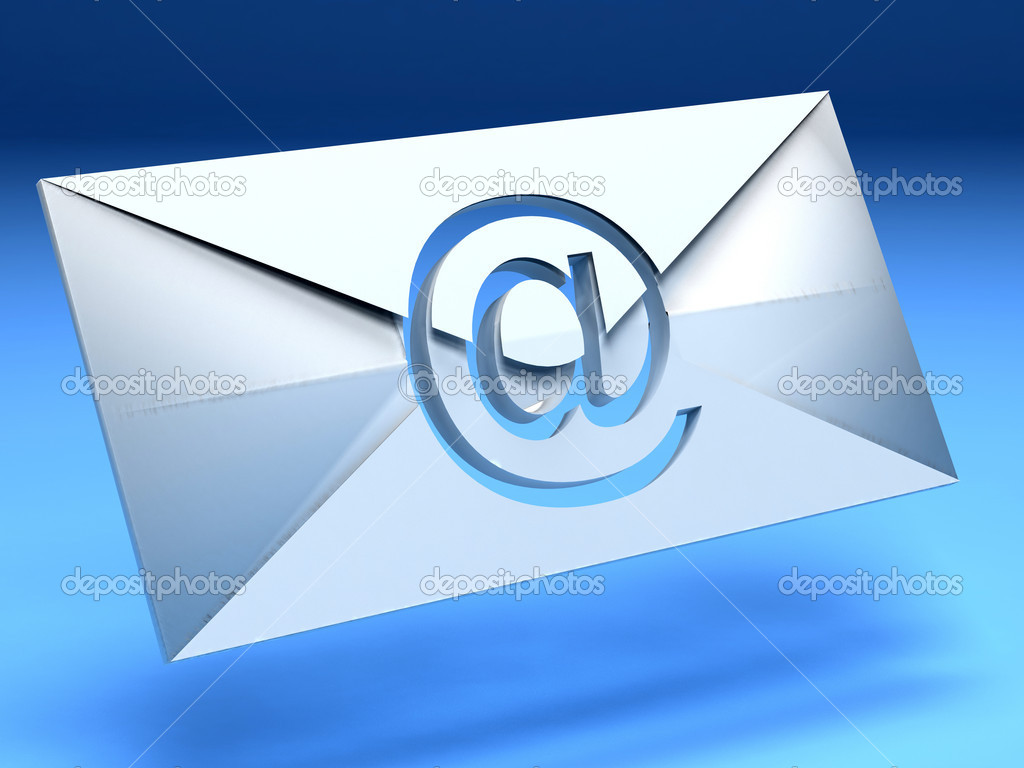3D Envelop isolated over a blue background — Stock Photo #7736432