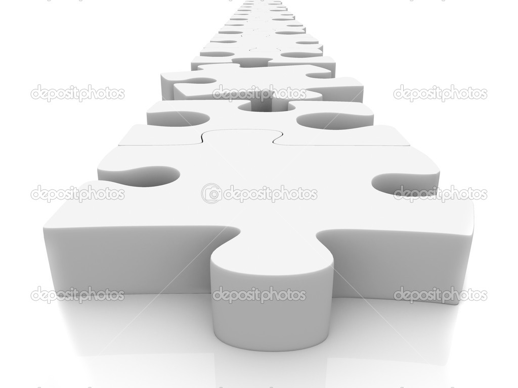 3D Puzzle isolated over a white background — Stock Photo #7736460