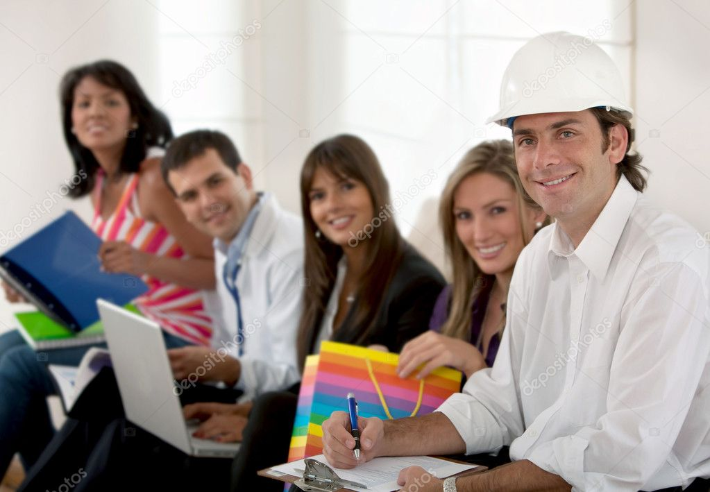 Group of with different professions and occupations — Stock Photo #7739947