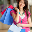 Shopping woman at the mall - Stock Photo