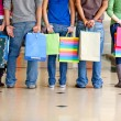 With shopping bags - Stock Photo