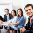 Business at meeting — Stock Photo #7740180