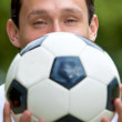 Man with a football — Stock Photo #7740196