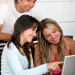 Royalty-Free Stock Photo: Students with a computer