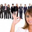 Businesswoman okay sign - Stock Photo