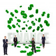 Businesspeople and dollar symbols — Stock Photo #7740407