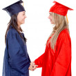 Stock Photo: Graduates handshaking