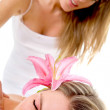 Woman having a back massage — Stock Photo
