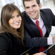 Couple on a laptop — Stock Photo #7740604