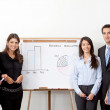Business office teamarbete — Stockfoto