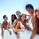 Друзья на каникулы — Стоковое фото