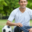 Man with a football — Stock Photo #7740676
