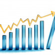 Growth graphs — Stock Photo