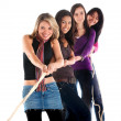 Stock Photo: Girls pulling