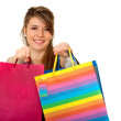 Shopping girl with bags — Stock Photo
