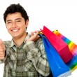 Man shopping - thumbs up — Stock Photo