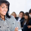 Business woman smiling — Foto de Stock