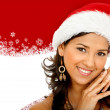 Woman with Santa hat — Lizenzfreies Foto