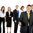 Business man with group — Stock Photo #7741186