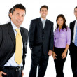 Business man with a group — Stock Photo #7741190