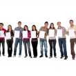 Stockfoto: Casual group - sign