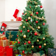 House with Christmas ornaments — 图库照片 #7741536
