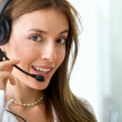 Royalty-Free Stock Photo: Customer services woman