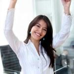 Business woman success — Stock Photo