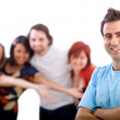 Man with friends — Stock Photo #7741672