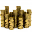 Stock Photo: Piles of coins