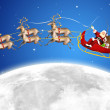 Santa in his sled - Stock Photo