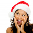 Stock Photo: Surprised female Santa