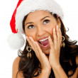 Surprised female Santa — Stock Photo