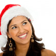 Female Santa smiling — Stock Photo #7741753