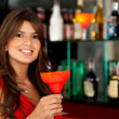 Stock Photo: Woman at the bar