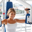 Woman doing exercise — Stock Photo #7741787