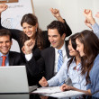 Happy business group — Stock Photo