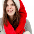 Woman with Santa hat — Stock Photo #7741844