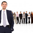 Business team standing — Stock Photo