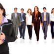 Businesswoman with her teamwork — Stock Photo