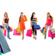 Girls with shopping bags — Stock Photo #7741884