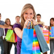 Stock Photo: Group of shoppers