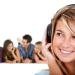Girl listening music — Stock Photo #7741888