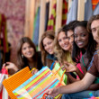 Group of shopping — Stock Photo