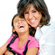Mother and daughter smiling — Stock Photo #7741894